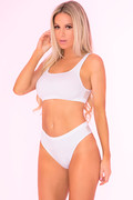 Clothing optional 2pc set white