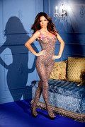 Luipaard print bodystocking