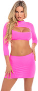 Stop & stare 2pc skirt set pink, m/l