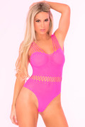 All access pass bodystocking pink
