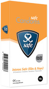 Safe intense safe condoms (rib/nop) 5pcs